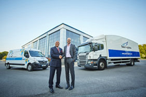 Mike Stephenson, MD for ILG, and Andy Fitt, MD for Yusen Logistics UK